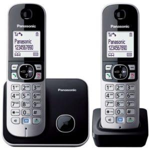 PANASONIC telefon bežični KX-TG6812FXB crni TWIN