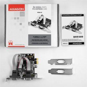 AXAGON PCEA-S2 PCI-Express Adapter 2x Serial Port+LP limić