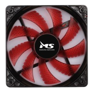 MS PC COOL 12cm crveni LED ventilator za kućište