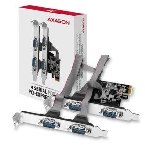 AXAGON PCEA-S4N PCI-Express Adapter 4x Serial Port+LP limić